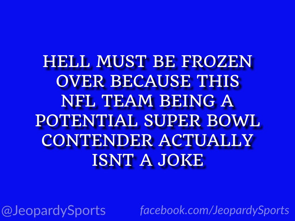 """""""Who are: the Cleveland Browns?"""" #JeopardySports #Browns"""