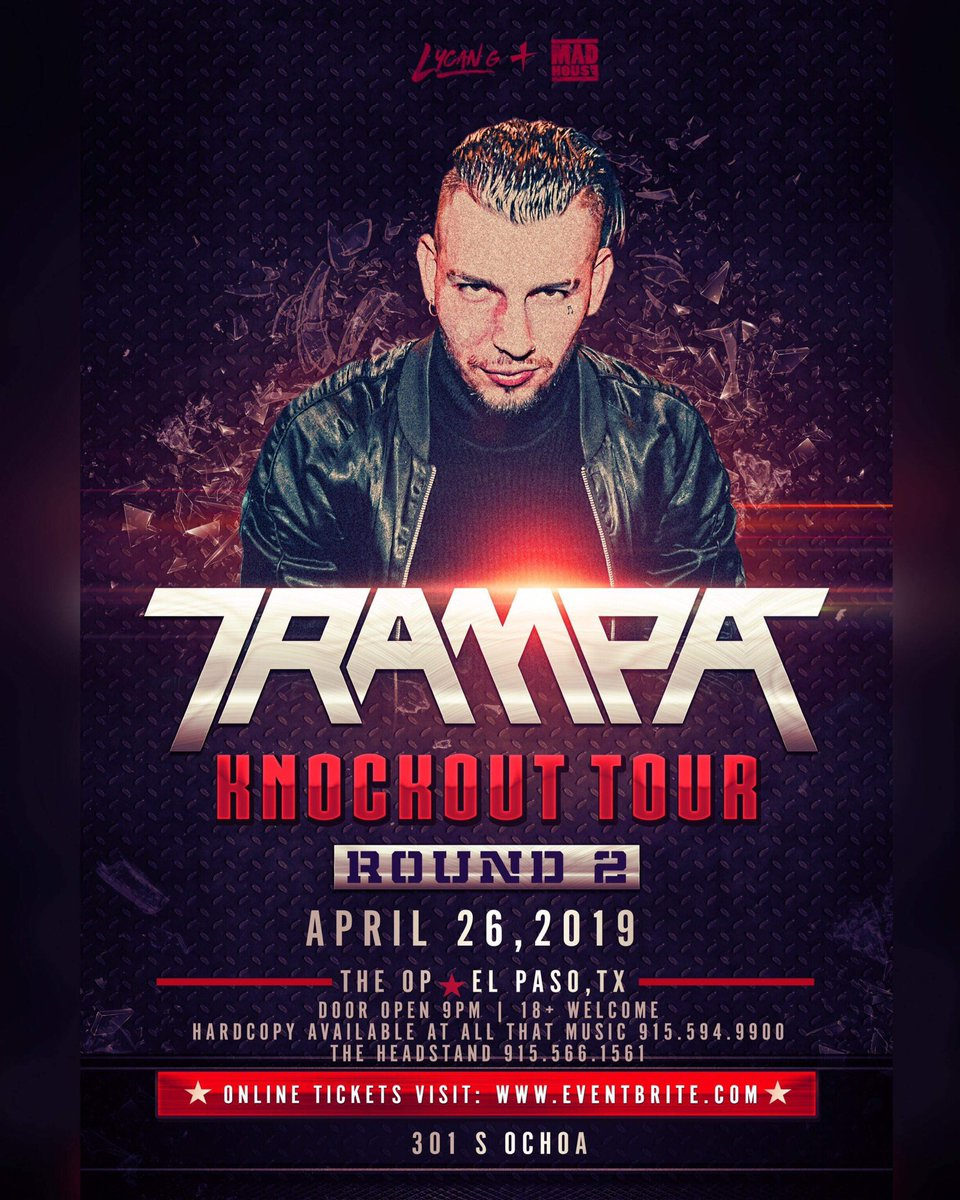 El Paso RT for a chance to win 2 tickets to @TrampaMusic!   🔥 Must follow  @LycanG_Prod  @MadHouseELP  @TexasEDMFamily  📢 Ends 4/26