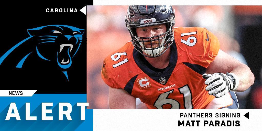 Panthers to sign center Matt Paradis to three-year, $27.03M deal. (via @RapSheet) https://t.co/66gni5Qpiy