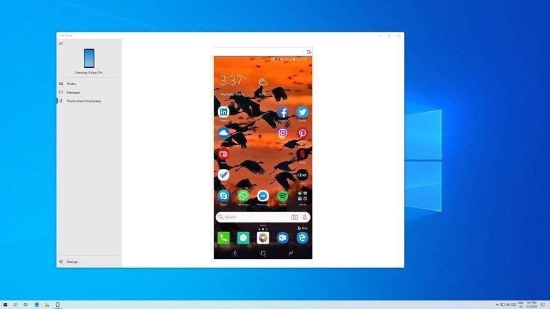 وضعت Microsoft هاتفك على شاشة الكمبيوتر الخاص بك مع إصدار 18356