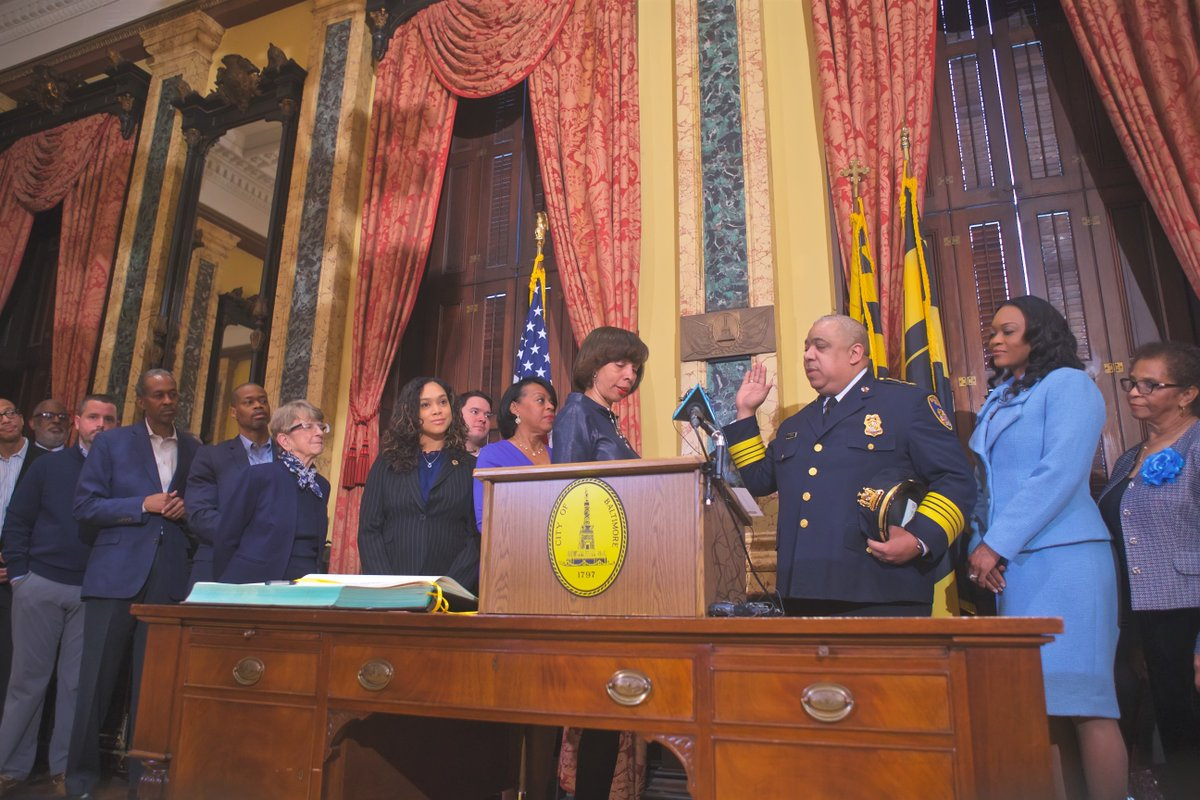 It was an honor to swear in Michael S. Harrison as the 41st Police Commissioner of Baltimore City.