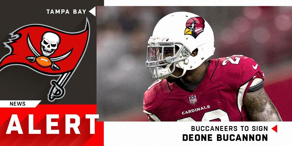 Safety @deonebucannon20 expected to sign with the @Buccaneers on a one-year deal.  (via @RapSheet) https://t.co/wJSNM9nZjY