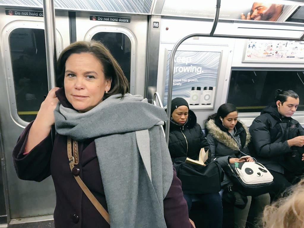 "Mary Lou McDonald on Twitter: ""New York City Subway Ride… """