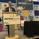 Image for the Tweet beginning: This year's #BCTechSummit brought together