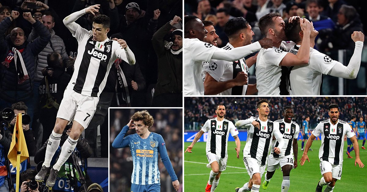 Juventus 2-0 Atletico: Ronaldo puts Juventus two up at the Allianz