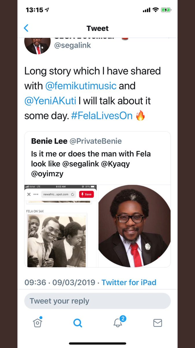 Your distinguished SegaMega Fraud Is Now Chief Tunji Braithwaite too.. He even said he shared moments with the late-Fela and the first daughter asked him about the moments.. Baba is trying to cook up lies. Even Yele Sowore thats closer to the shrine didn't say he share moments <br>http://pic.twitter.com/FS5IiW1D8O