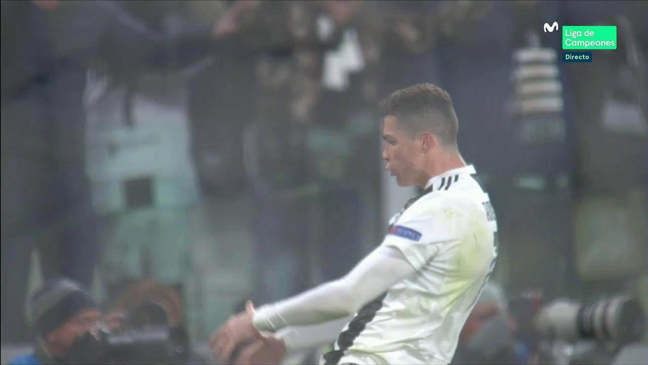 Gesto de Cristiano Ronaldo tras el partido.