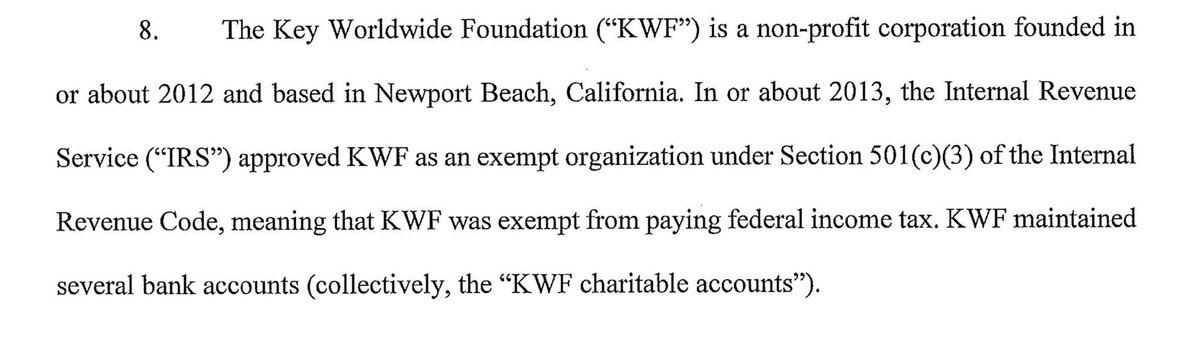 """Just realized the college admissions bribery scandal money was routed through a fraudulent 501(c)(3) nonprofit foundation so wealthy parents got an IRS tax write-off under the guise of donating to a charity for """"educational and self-enrichment programs to disadvantaged youth"""""""