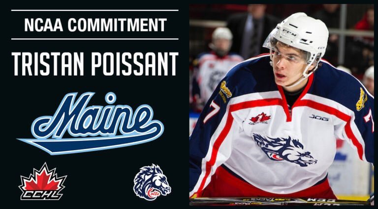 2e39c9fa TRISTAN POISSANT COMMITS TO MAINE Cornwall Colts forward Tristan Poissant  has committed to The University of Maine NCAA Division 1 hockey team for  the ...