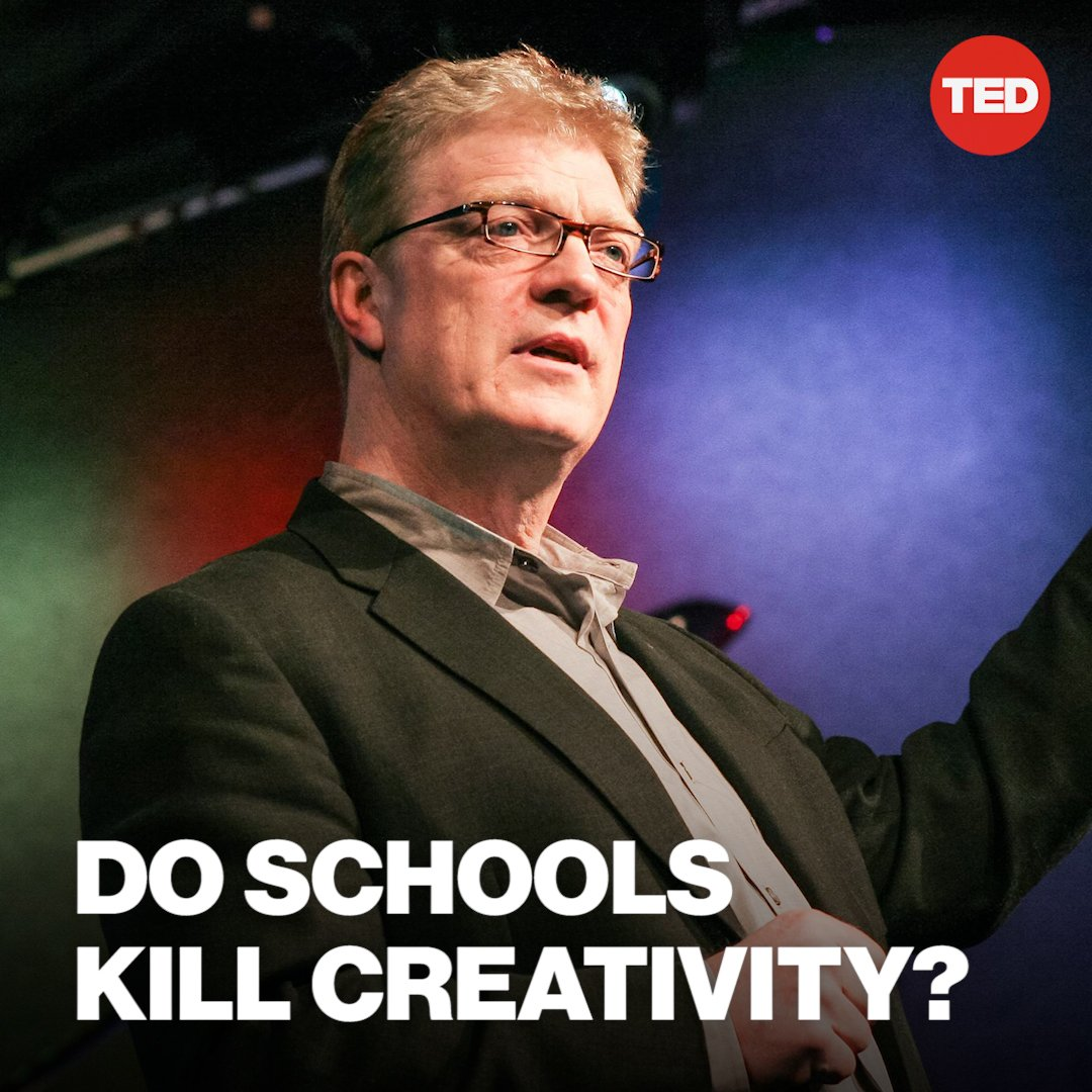 """If you're not prepared to be wrong, you'll never come up with anything original.""  Watch @SirKenRobinson's classic TED Talk about how schools can nurture creativity: http://t.ted.com/ZHpQcWN   And catch Sir Ken tomorrow (3/13) on @CBSThisMorning between 7-9 a.m. EST!"