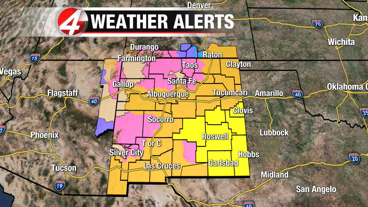 Easy day in the office.   Just a Tornado Watch, Avalanche Warning, Winter Storm Warning, High Wind Warning, Wind Advisory, and Winter Weather Advisory all in effect.  The perks of covering one of the largest geographical markets in the US...#NewMexicoTRUE #nmwx #azwx #cowx<br>http://pic.twitter.com/mZ5PKQudb9