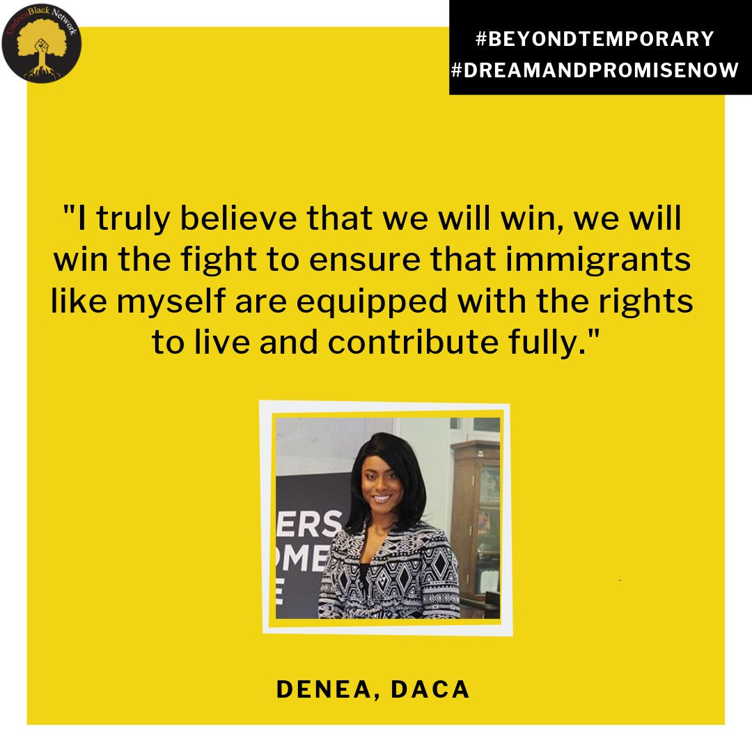 """I truly believe that we will win, we will win the fight to ensure that immigrants like myself are equipped with the rights to live and contribute fully."" Our Communications Coordinator, @DeneaRandeen on the introduction of the #DreamAndPromiseAct in Congress today."