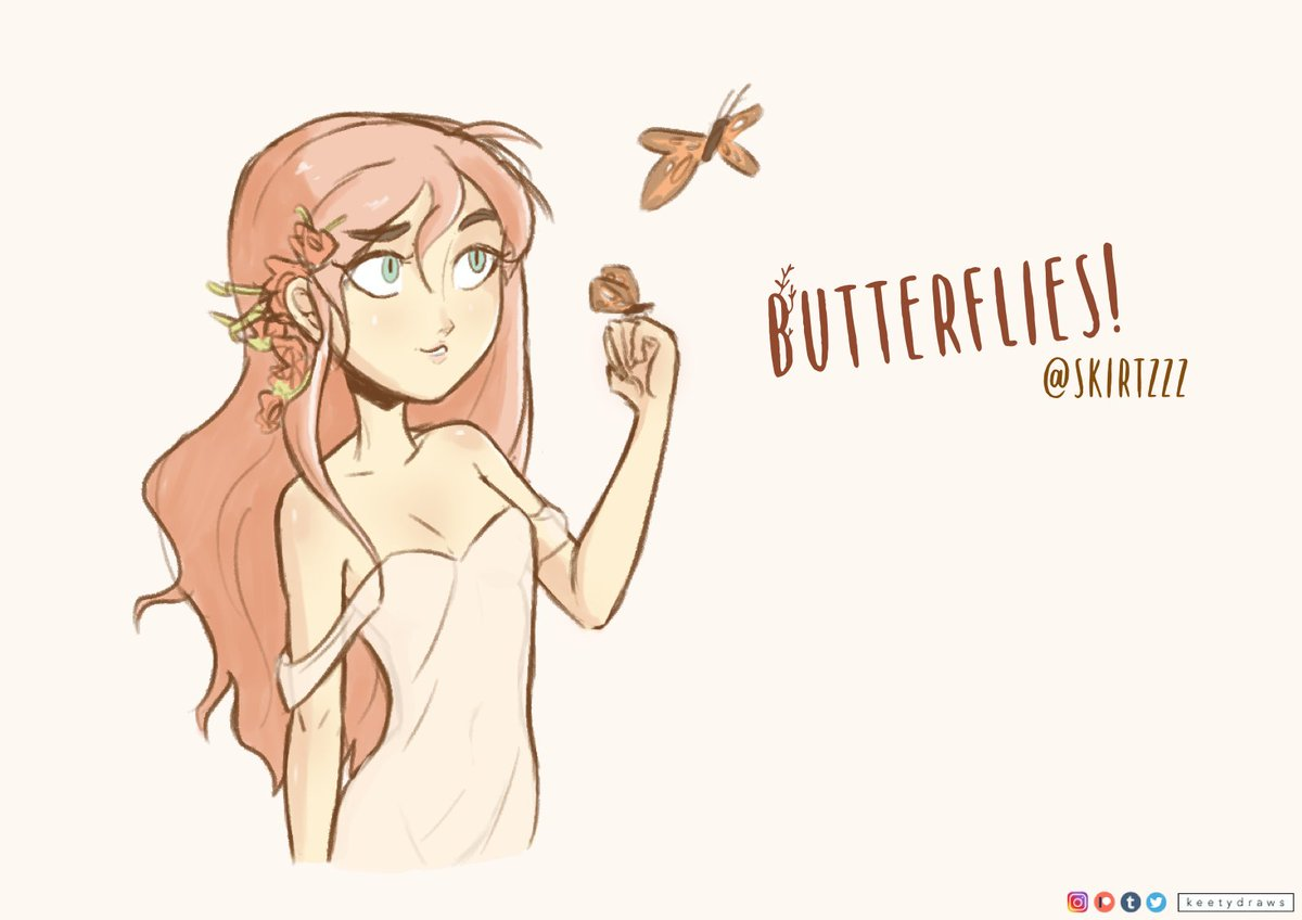 Butterfly girl for @Skirtzzz in my cute, dumm style! 😊 #DrawThisInYourStyle