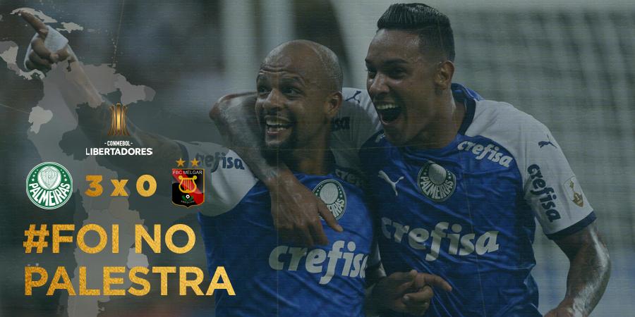 Palmeiras le dio un baile al Melgar