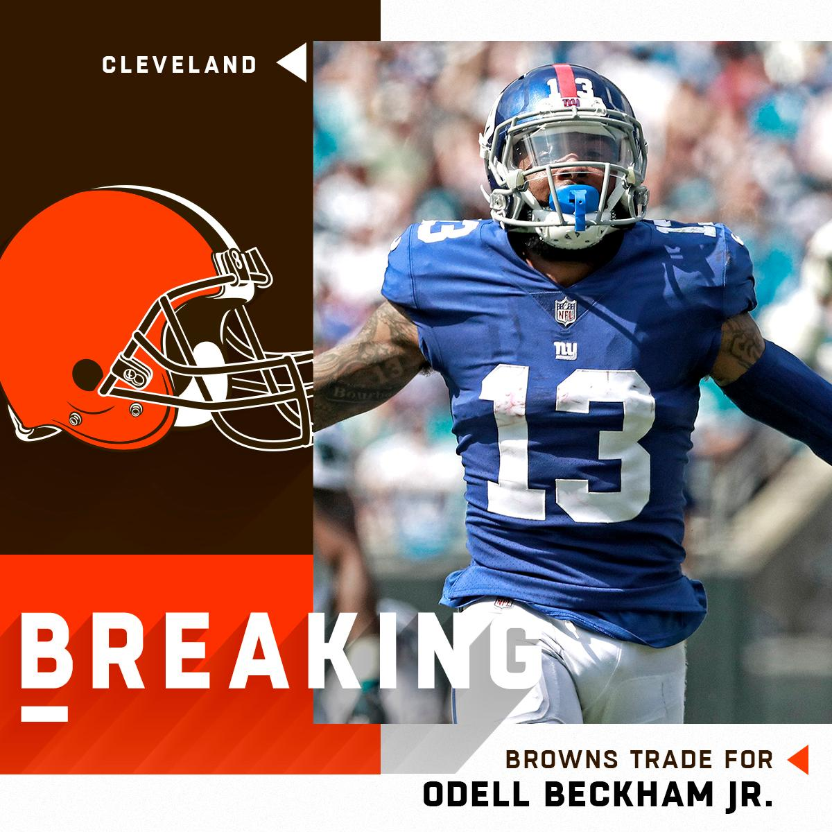 BREAKING: The @Browns have traded for WR @obj.  (via @MikeGarafolo)