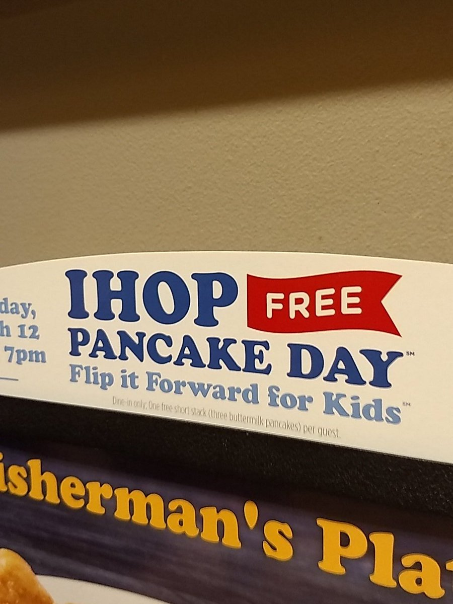 IHOP Free Pancake Day 2019 – Children's Miracle Network