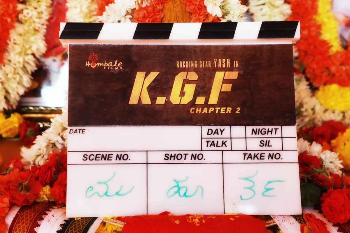 And it begins.. After KGF 1 being loved by u all, CHAPTER 2 is all set to create double the Dhamaka!! Need your love and blessings as always 😊