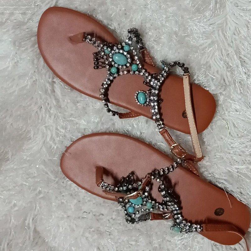 00792ff1b3 Ericdress Thong Beads Women's Flat Sandals http://urlend.com/FJnuiaq #