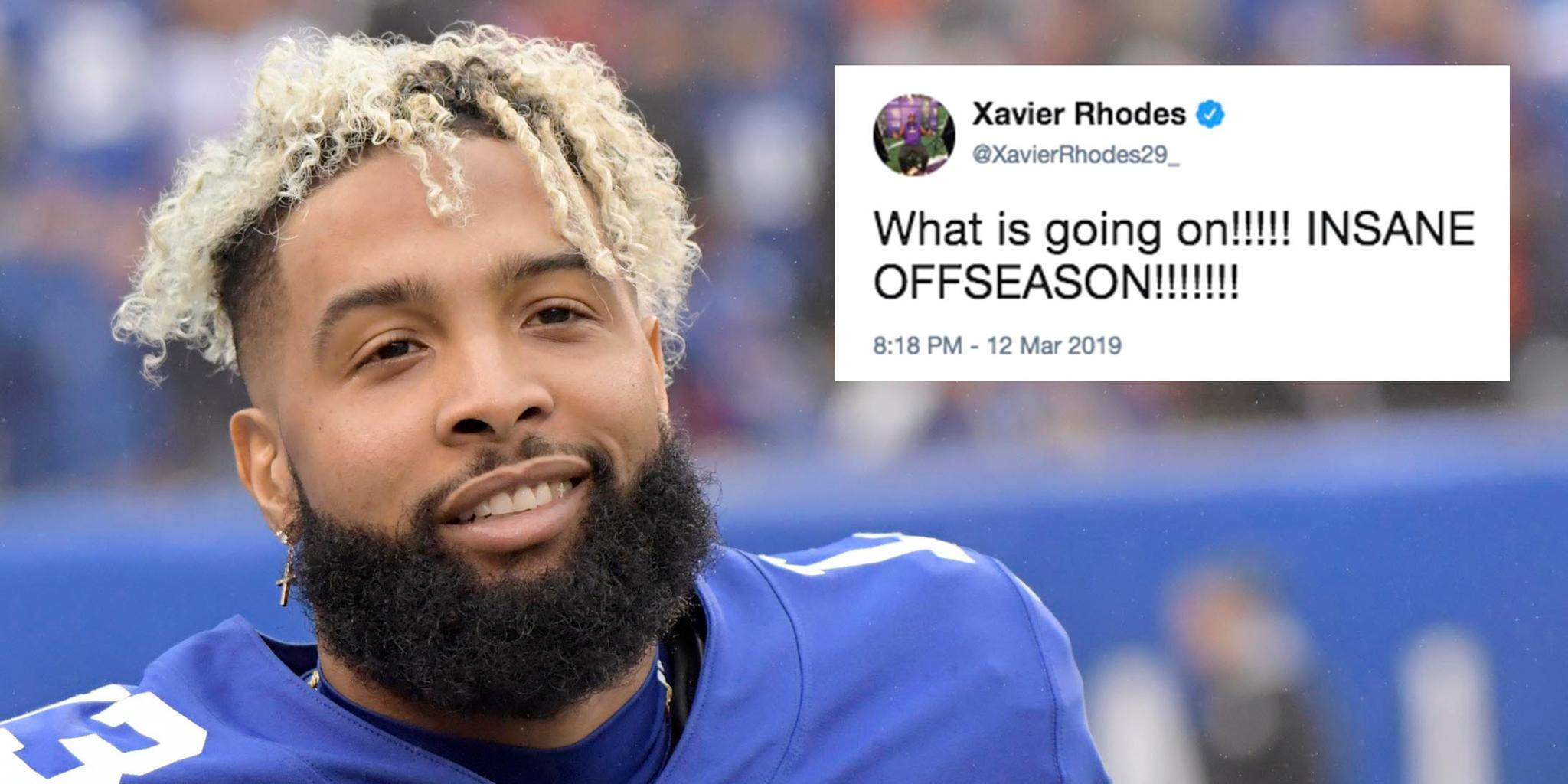 A move that sent shock waves through the NFL world.  Players react to the @obj trade: https://t.co/w8mCeqZnEf https://t.co/FVTLQhbERc
