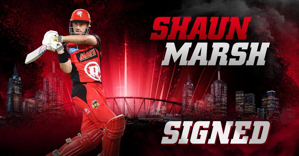 BREAKING: Our @BBL title defence has begun, signing Australian top order batsman Shaun Marsh on a multi-year deal 🖊️  Full details = https://rngd.es/SMarshSigns  🔴⚫️ #GETONRED