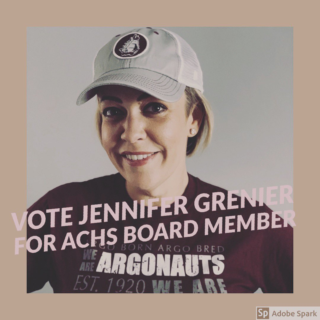 On April 2nd my name will be on the ballot for the School Board at Argo Community High School.  As an alumni our family has lived in the community and have been strong supporters of ACHS through sports and academia. I ask for your vote, please punch #114.  #Grenier114 <br>http://pic.twitter.com/rLuYiJe0fk