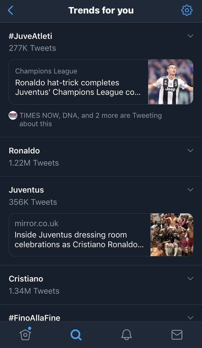 How can be Mr. Champions League @Cristiano so much dominating everywhere.😍 He is GOAT!! Accept the truth if you're really a Football Fan.😎 #JuveAtleti #FinoAllaFine #ForzaJuve @ChampionsLeague