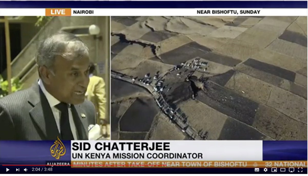 .@UnKenya Resident Coordinator @sidchat1 mourns the loss of @UN 🇺🇳 staff who passed away in #EthiopianAirlinesCrash & also reminds the world 🌎 that 32 Kenyans 🇰🇪 also passed away. Thx 🙏 Sid for being sensitive. 🇰🇪 is home to 2 @UN HQ in Global South https://youtu.be/SkengCECep4