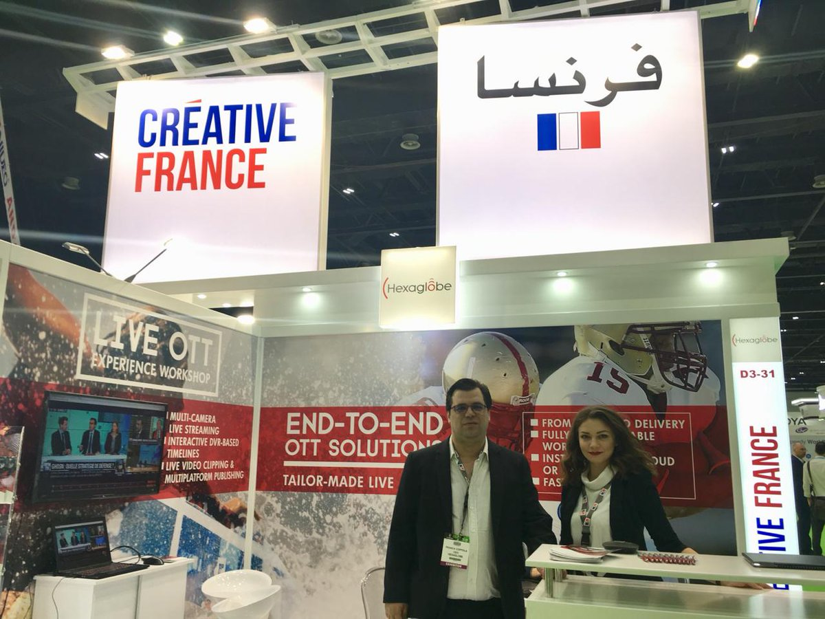 Inspiring meetings @CABSATofficial with @contentarmor (the startup presents new solutions to help the multimedia & entertainment industry fight content piracy) @Hexaglobe (who offers a new online video distribution product to broadcasters) & @FRANCE24. #Choose 🇫🇷 #FranceUAE 🇫🇷🇦🇪