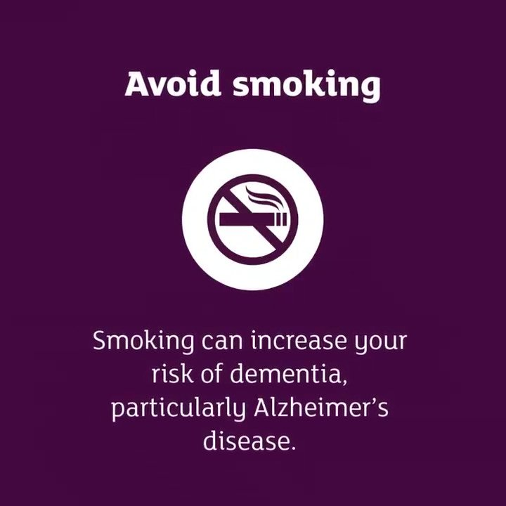 Although getting older is the biggest risk factor for dementia, evidence shows there are things you can do to help reduce your own risk.
