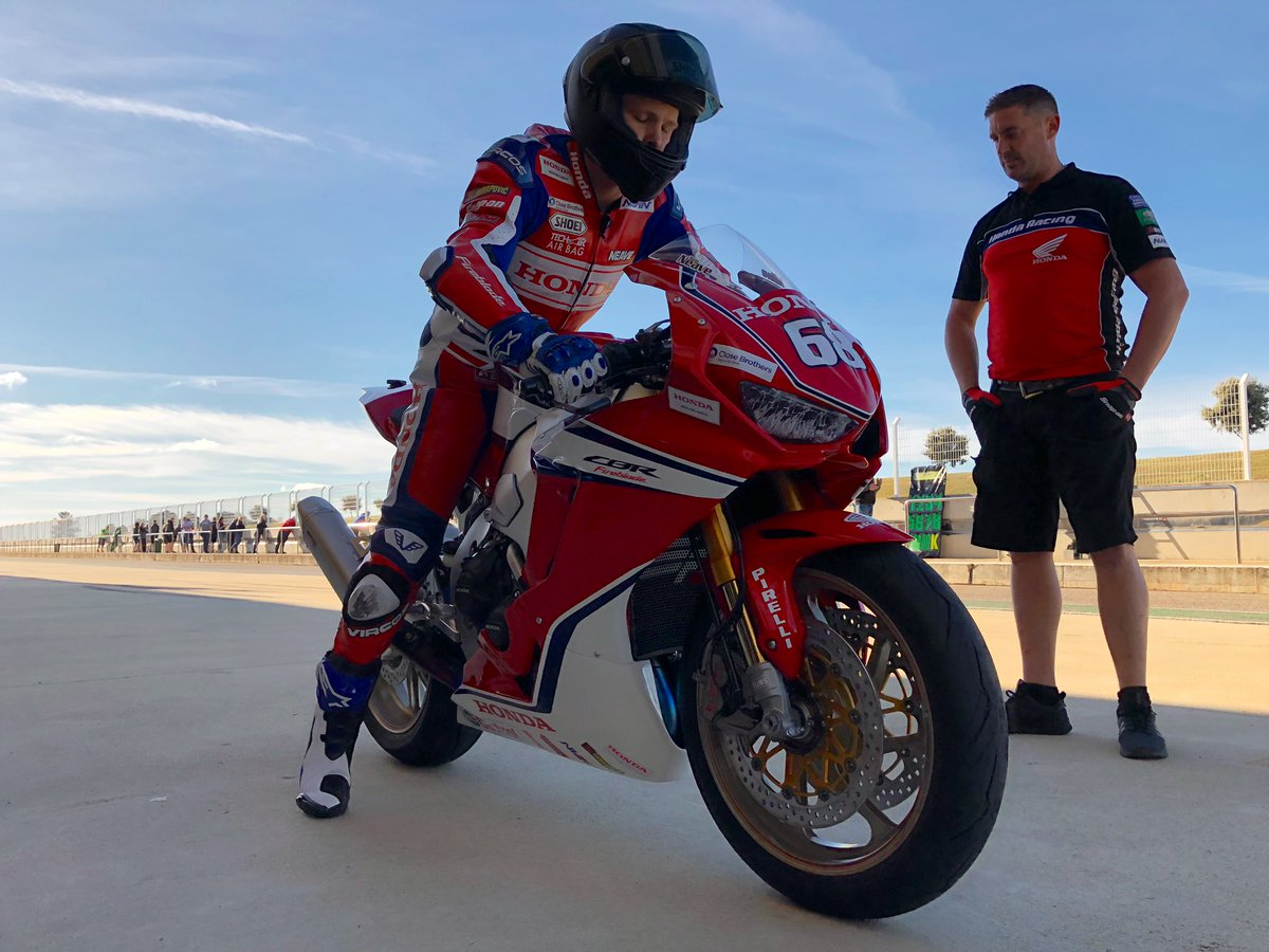 First laps of #BSB2019 underway as @AndrewIrwin8 and @TomNeave68 head out   Follow the test with live timing here:  https:// livetiming.tsl-timing.com/191113  &nbsp;     #Honda #CBR1000RR #Fireblade #SP2<br>http://pic.twitter.com/PrMjQbBY0j