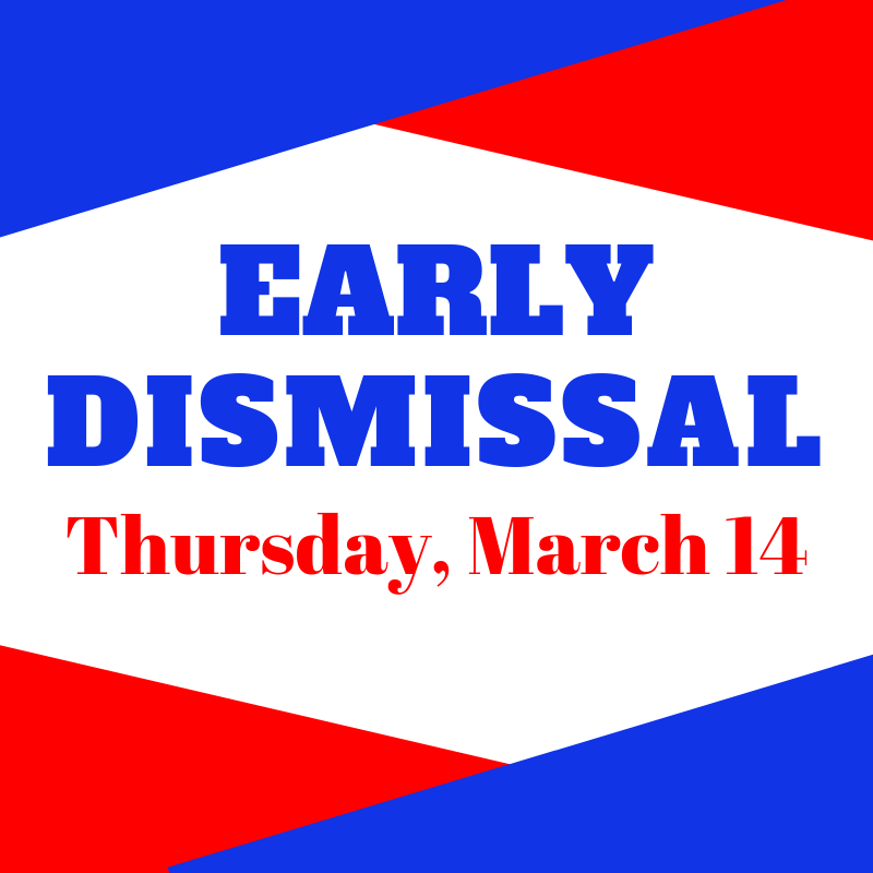 Clinton Schools will dismiss early tomorrow, Thurs. 3/14. Join us for Parent Teacher conferences between 1:00-8:00.  See specific building info below. #CardinalPride @HenryElementary @CIScards345 @CMSCardinals @CHSCards @ClintonTechSch