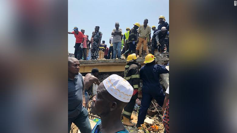 A three-story building collapsed in Lagos, Nigeria, leaving school children trapped https://t.co/gnB8WKsWDd https://t.co/i3KbCDrTcN