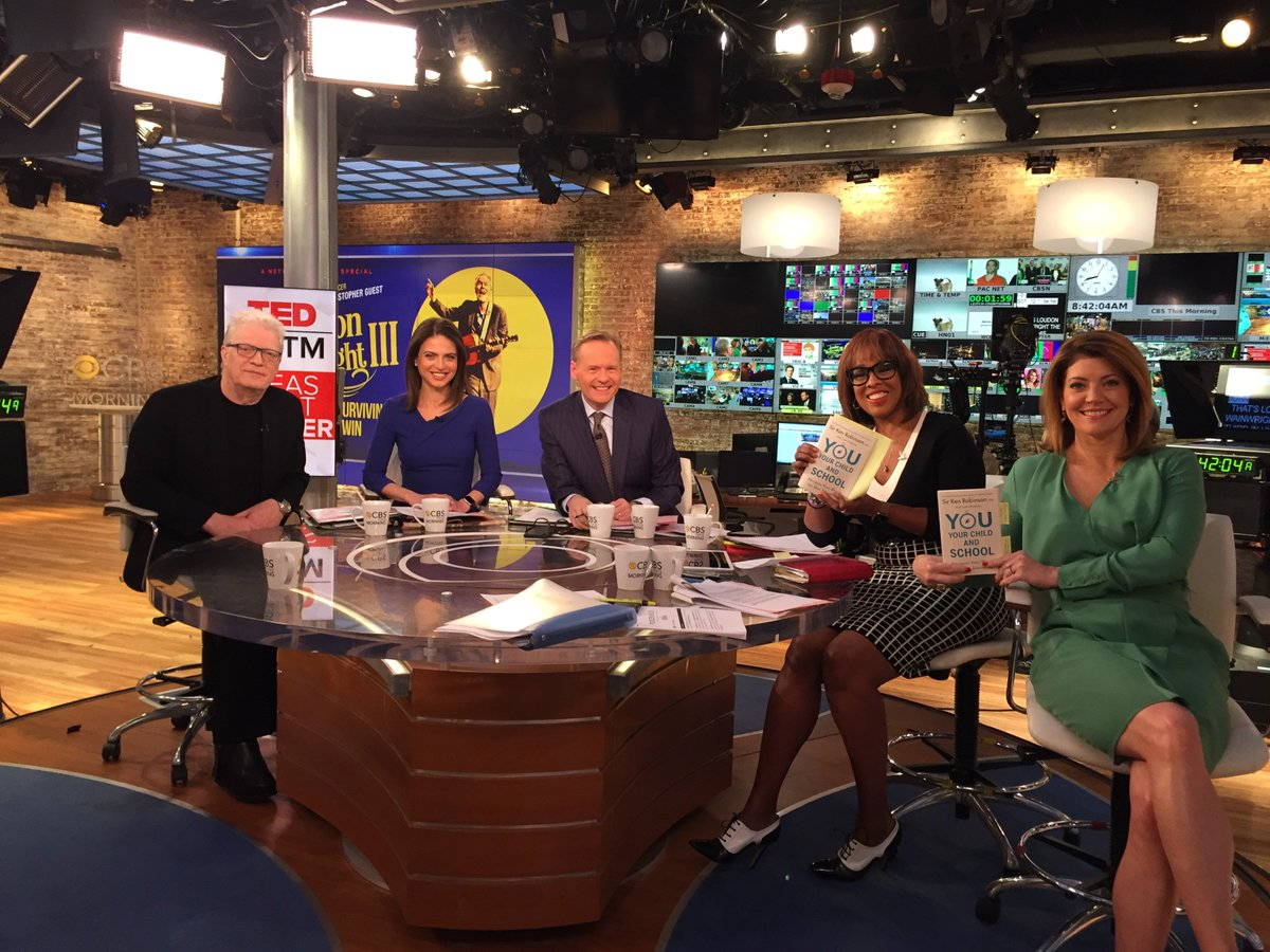 .@SirKenRobinson discussed his book YOU, YOUR CHILD, AND SCHOOL (now in paperback!) on @CBSThisMorning. Watch his interview here: https://www.cbsnews.com/video/sir-ken-robinson-on-how-to-encourage-creativity-among-students/ …