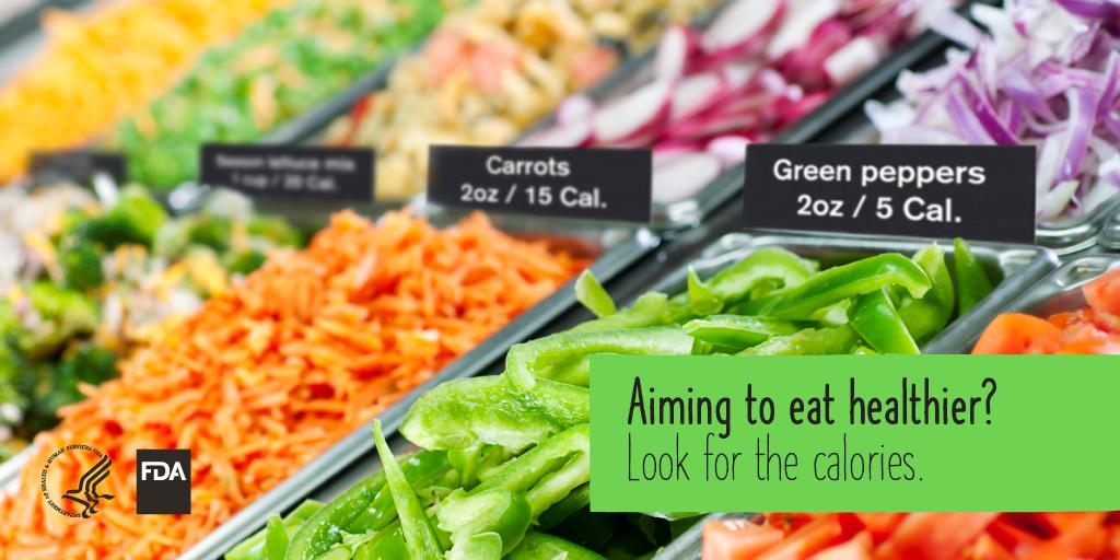 You can now find calorie information at many salad bars & buffets.  Compare calorie info then make the choice that's right for YOU. #MenuLabel #HealthyEating http://www.fda.gov/caloriesonthemenu … #NationalNutritionMonth