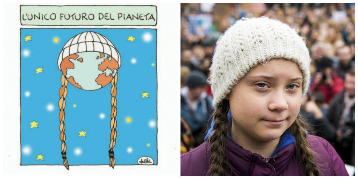 L'unico futuro del pianeta - La vignetta di ElleKappa #GretaThunberg #FridaysForFuture #ClimateStrike https://t.co/ZsH6efTfTC