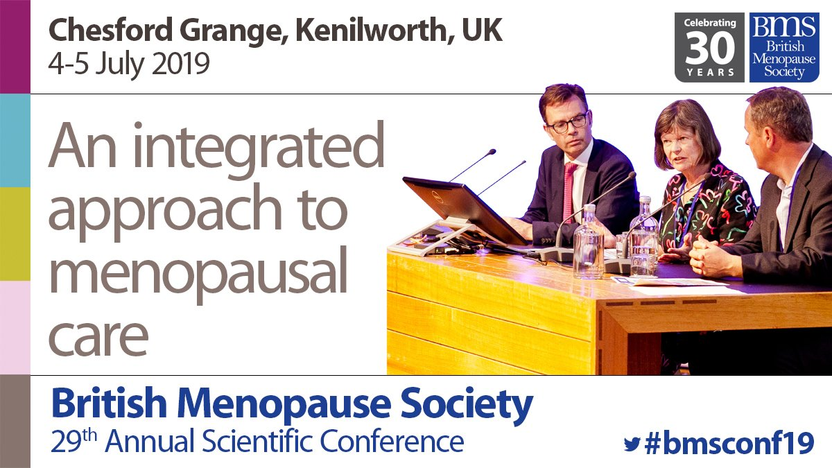 Be sure to book your study leave. Only eight weeks to go until British Menopause Society 2-day Annual Scientific Conference. Plenary sessions, interactive discussions, the BMS debate and Menopause Cafe. https://bit.ly/2ucuWTr