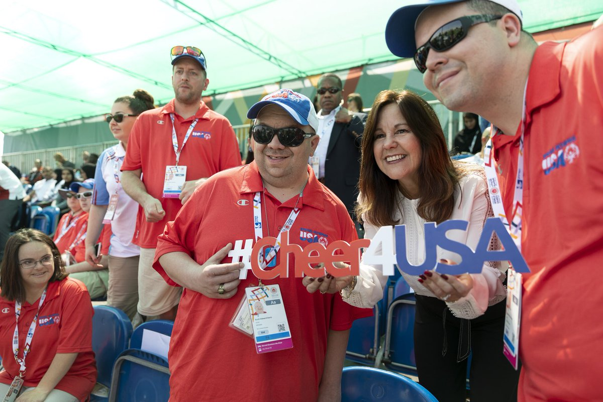 Second Lady Karen Pence Participates in the Special Olympics World Games…