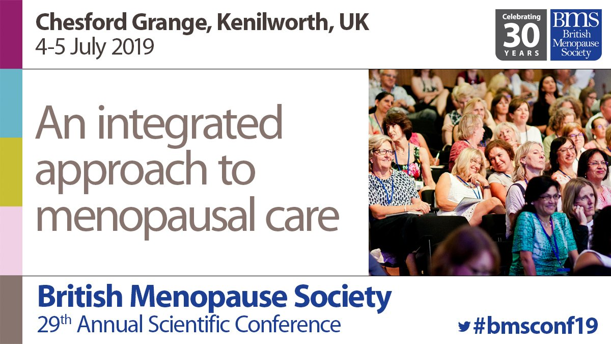 BMS Conference 2019 International speakers. Professor Walter Rocca, Mayo Clinic, Rochester, USA Bilateral oophorectomy, estrogen deprivation and accelerated ageing ; Dr Rossella Nappi, Univ of Pavia, Italy Sexuality in Premature ovarian insufficiency  https://bit.ly/2ucuWTr