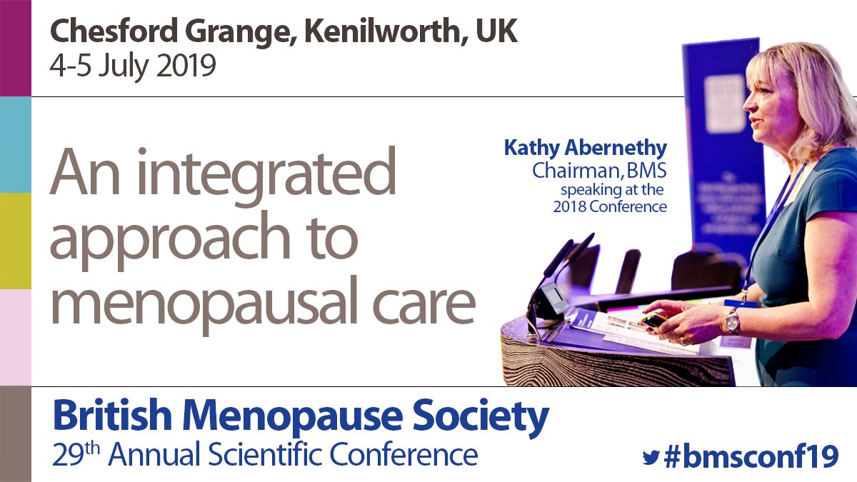 Just six weeks to go. Have you booked your study leave ?  British Menopause Society 2-day annual scientific conference.  The largest annual conference in Europe on #menopause and post-reproductive health  https://bit.ly/2ucuWTr