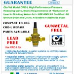 Image for the Tweet beginning: Buy your CLA-VAL Lead-Free Valves