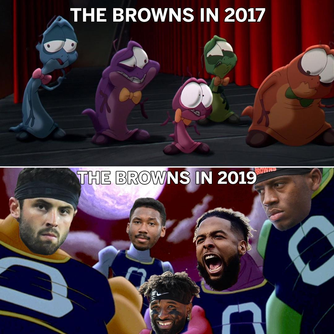 Browns with the glow-up �� https://t.co/Ta43ltfXWA