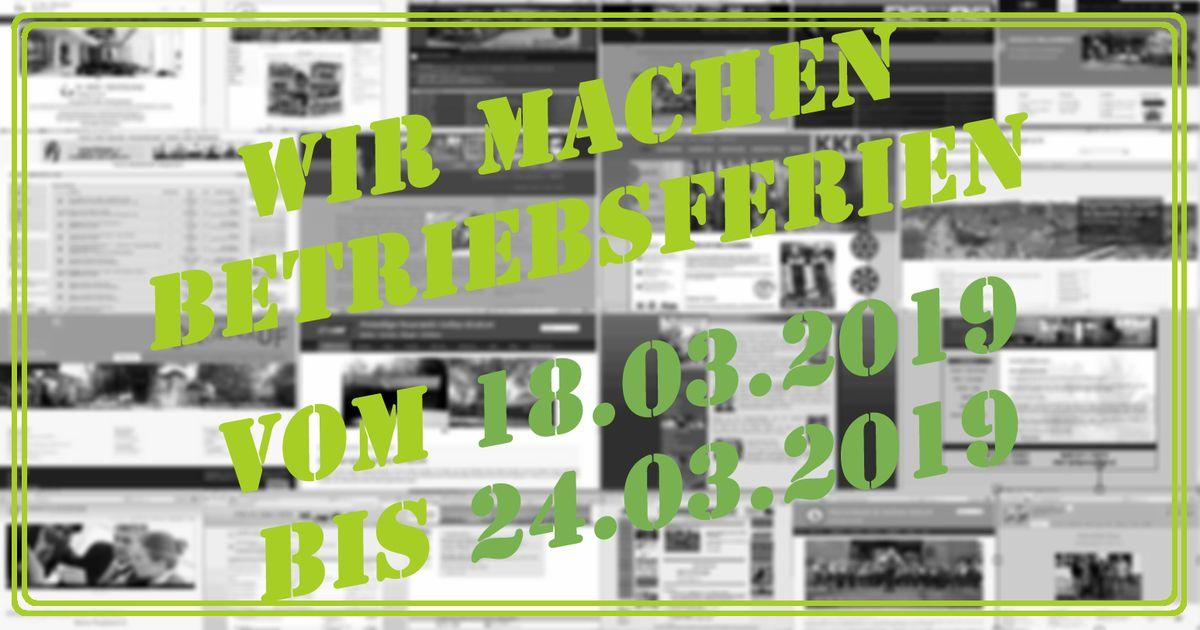 """Auch wir brauchen mal eine Auszeit. Daher lassen wir vom 18. - 24.3.19 die """"Seele baumeln"""" :-) Weiteres: --> https://www.kapudo.de/Informationsfahrt… #kapudo #it #studio #bildung #fahrt #betriebsferien #info #information #berlin #hauptstadt #ikbineinberliner pic.twitter.com/HBTiMa2Is6"""