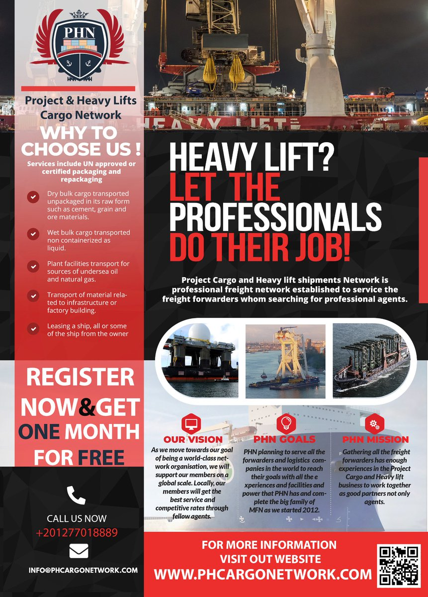 PHN - Project & Heavy Lifts Cargo Network (@phcargonetwork