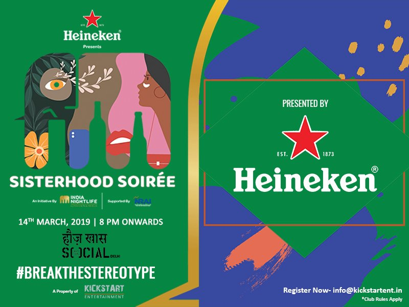 A huge thank you to all our amazing sponsors without whom Sisterhood Soiree would not have been possible! 🙏 #delhi #sisterhoodsoirée #heineken