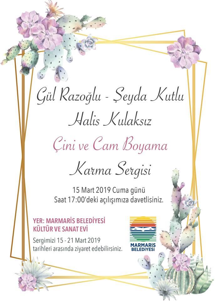 Marmaris Belediyesi V Twitter Cini Ve Cam Boyama Karma Sergisi