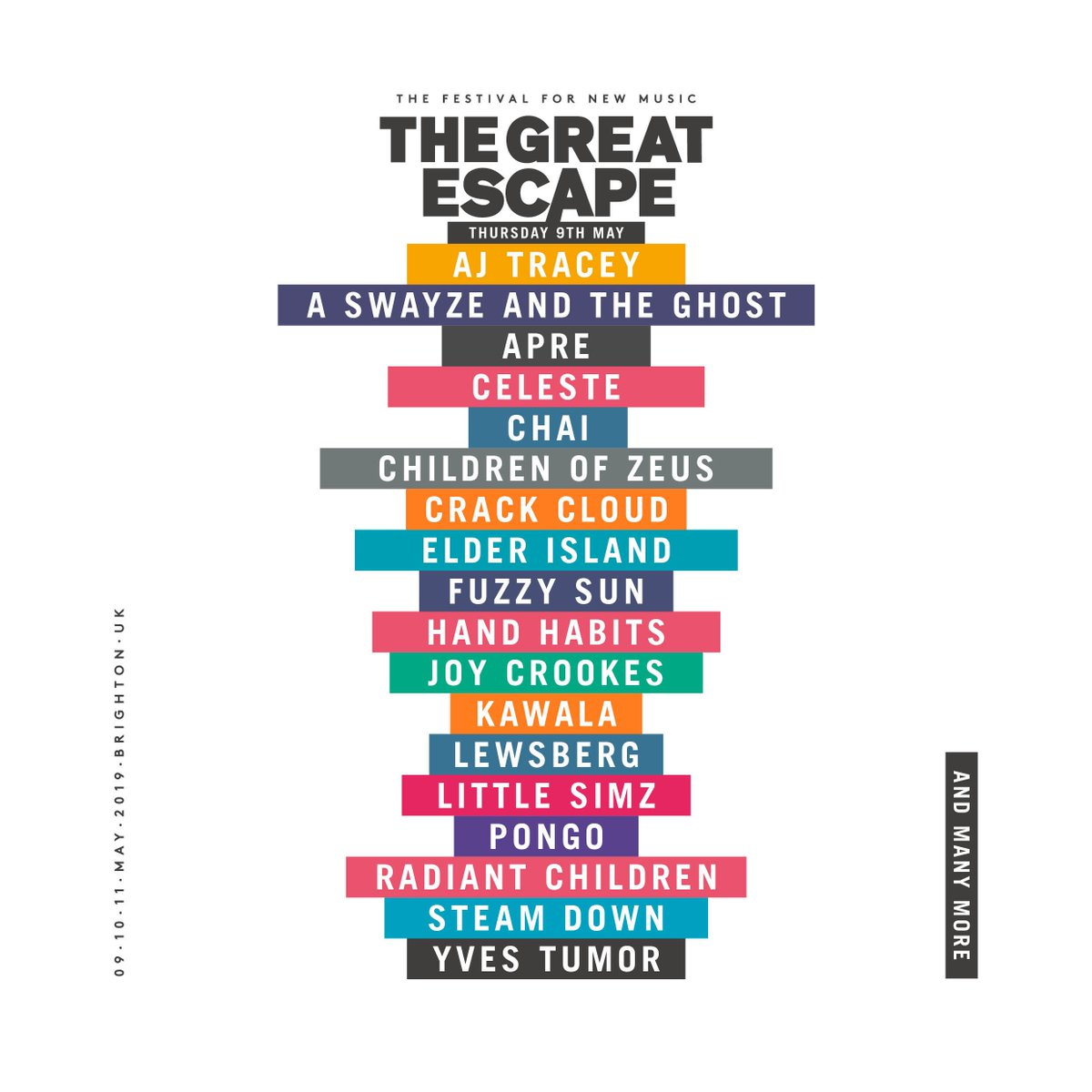 ICYMI here are some day by day highlights of the #TGE19 lineup so far... Who's top of your must see list? ⚡