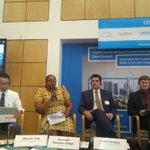 Image for the Tweet beginning: #UNEA4 #CitiesSummit #circulardevelopment Ms. Ayo