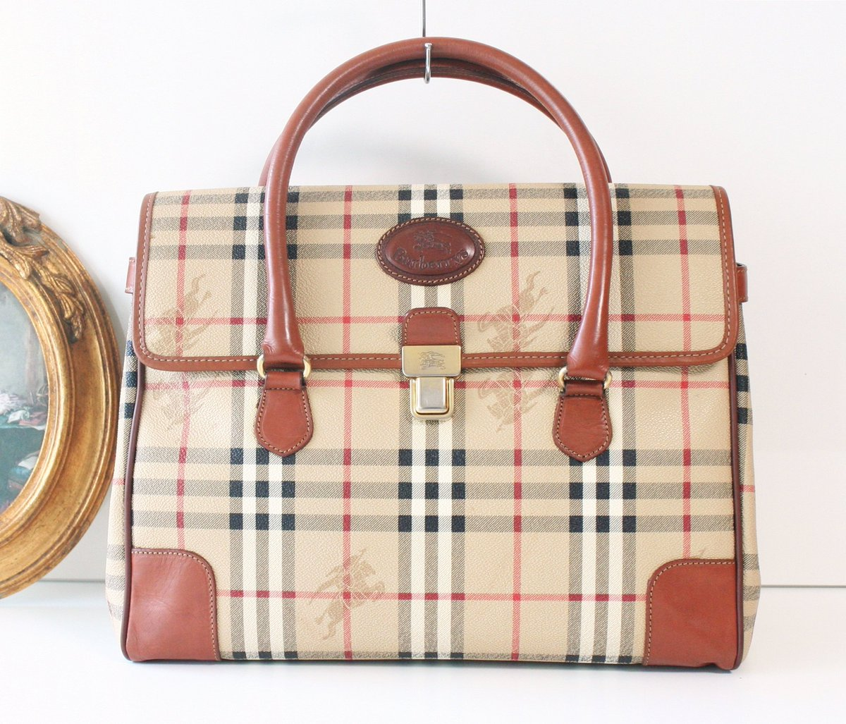 75ca93e433e Excited to share the latest addition to my  etsy shop  Burberry Haymarket  Check Large Tote handbag https   etsy.me 2XTSJ85  bagsandpurses  beige   baptism ...