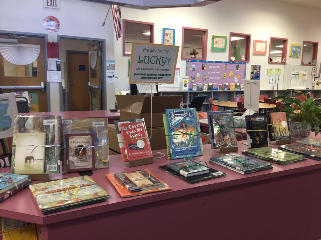"It's Patrick Henry students' lucky week! Check one book out and get another ""free"". Read to discover the connection between the two books! <a target='_blank' href='http://twitter.com/APSLibrarians'>@APSLibrarians</a> <a target='_blank' href='http://twitter.com/APS_HankHenry'>@APS_HankHenry</a> <a target='_blank' href='https://t.co/ZrA03oOdIU'>https://t.co/ZrA03oOdIU</a>"