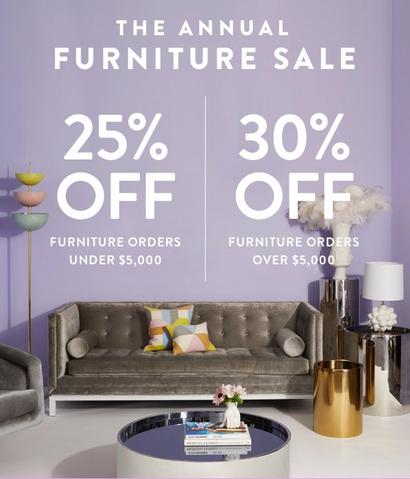 Jonathan Adler On Twitter Its Here Our Annual Furniture Sale Is